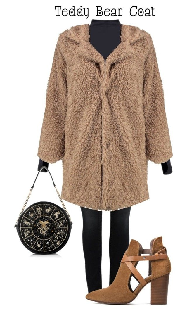 """""""Teddy bear coat"""" by natalia998-1 ❤ liked on Polyvore featuring Ivy Park, Boohoo and H London"""