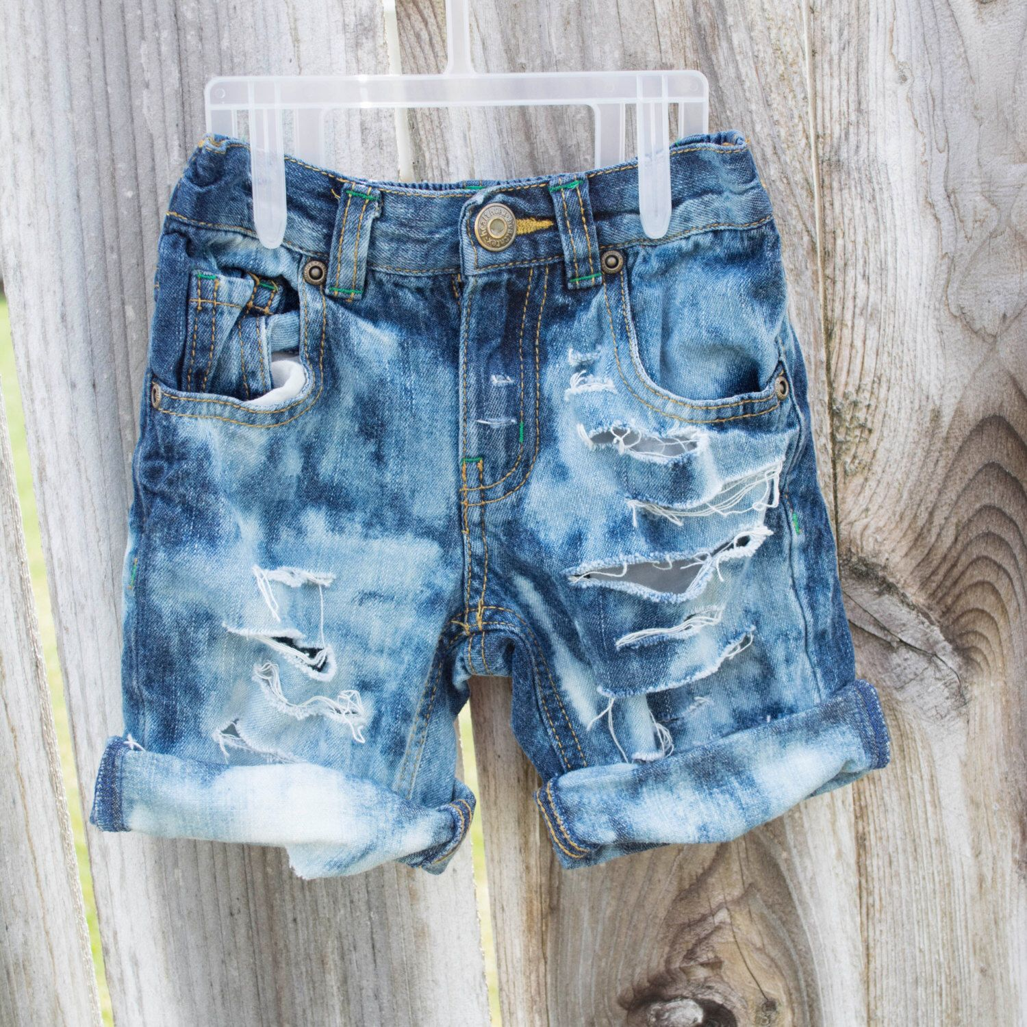 Boys Size 18 Months Distressed Denim Shorts | Shorts, Denim shorts ...