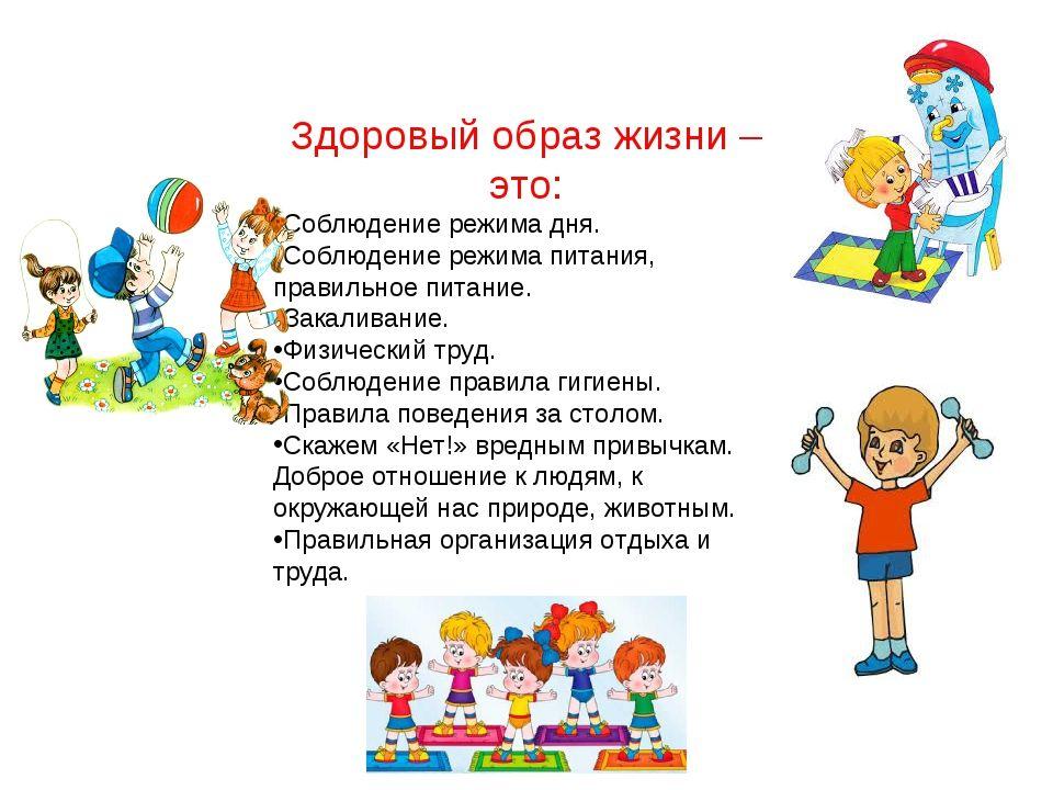 Образ жизни в картинках для детей