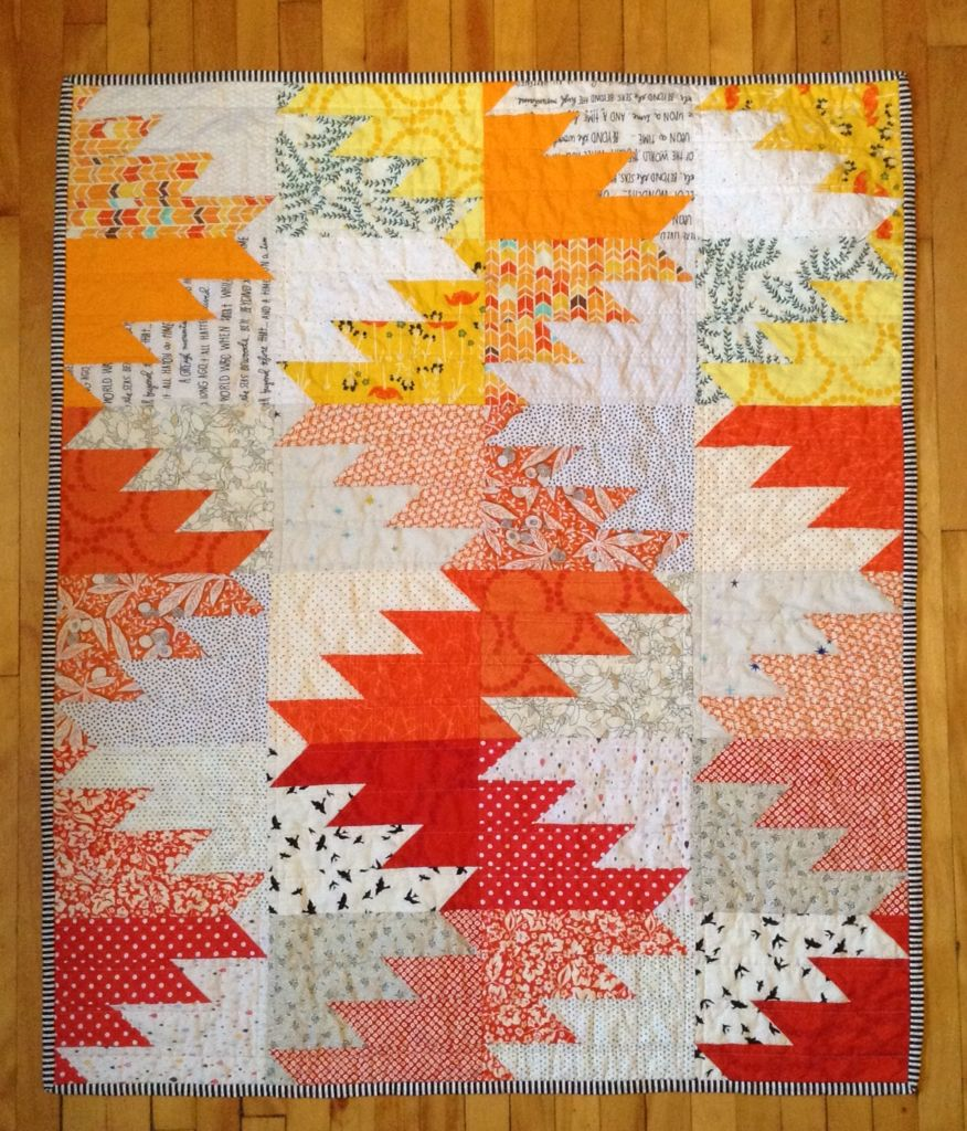 Baby Patchwork Tæppe Delectable Mountains Quilt For Baby Luella Japanske Lygter