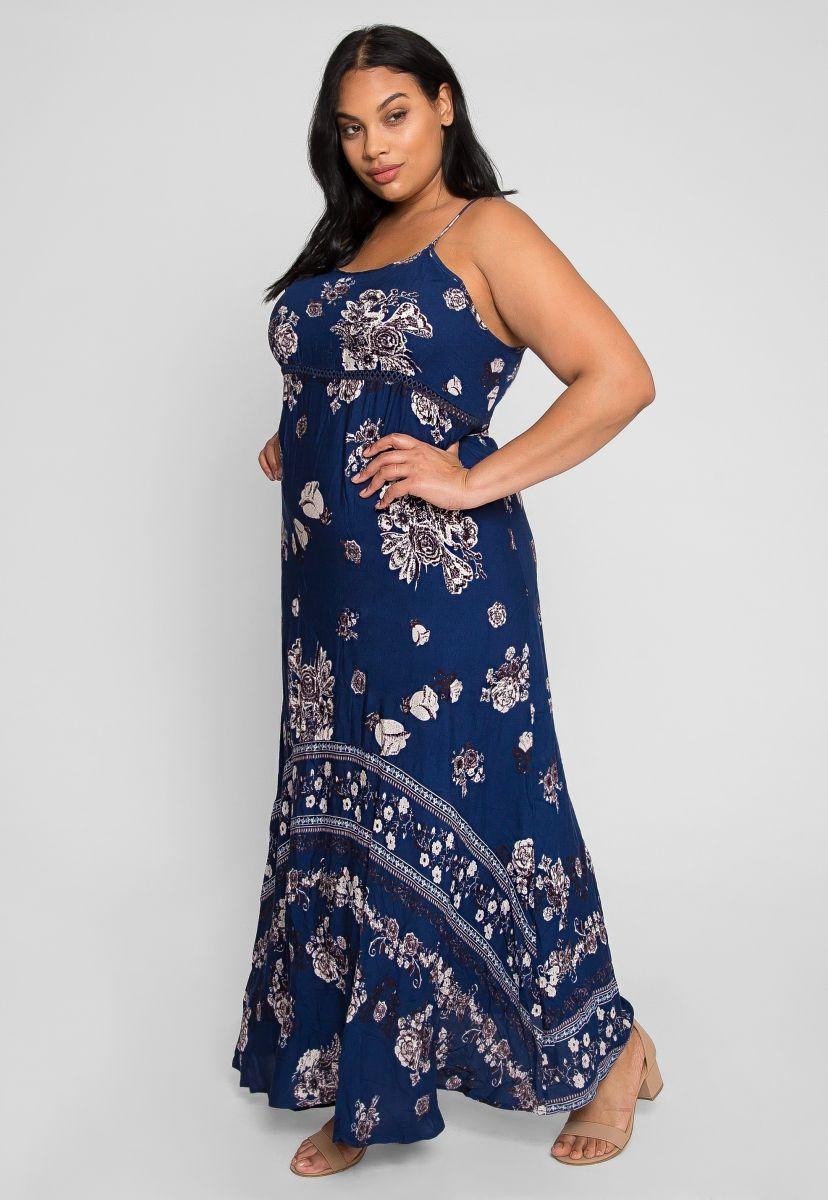 Plus Size Leila Floral Maxi Dress | Curvy Fashion | Plus ...