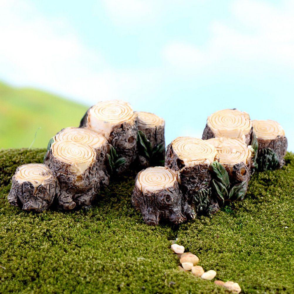 Fairy lawn ornaments - Details About Miniature Resin Tree Stump Bridge Garden Fairy Ornament Flower Pot Plant Decor