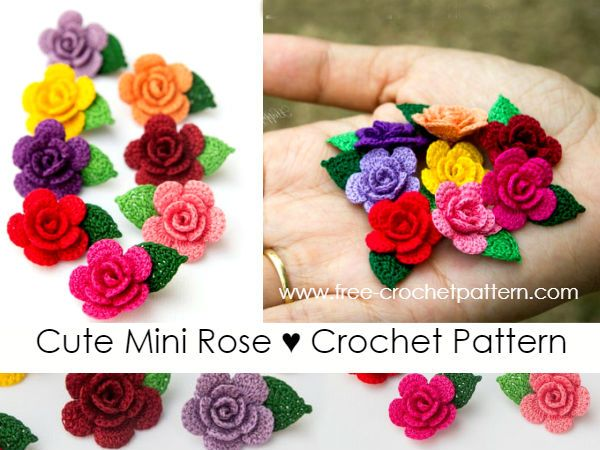 Cute Mini Rose Crochet Pattern Free Crochet Patterns Crochet