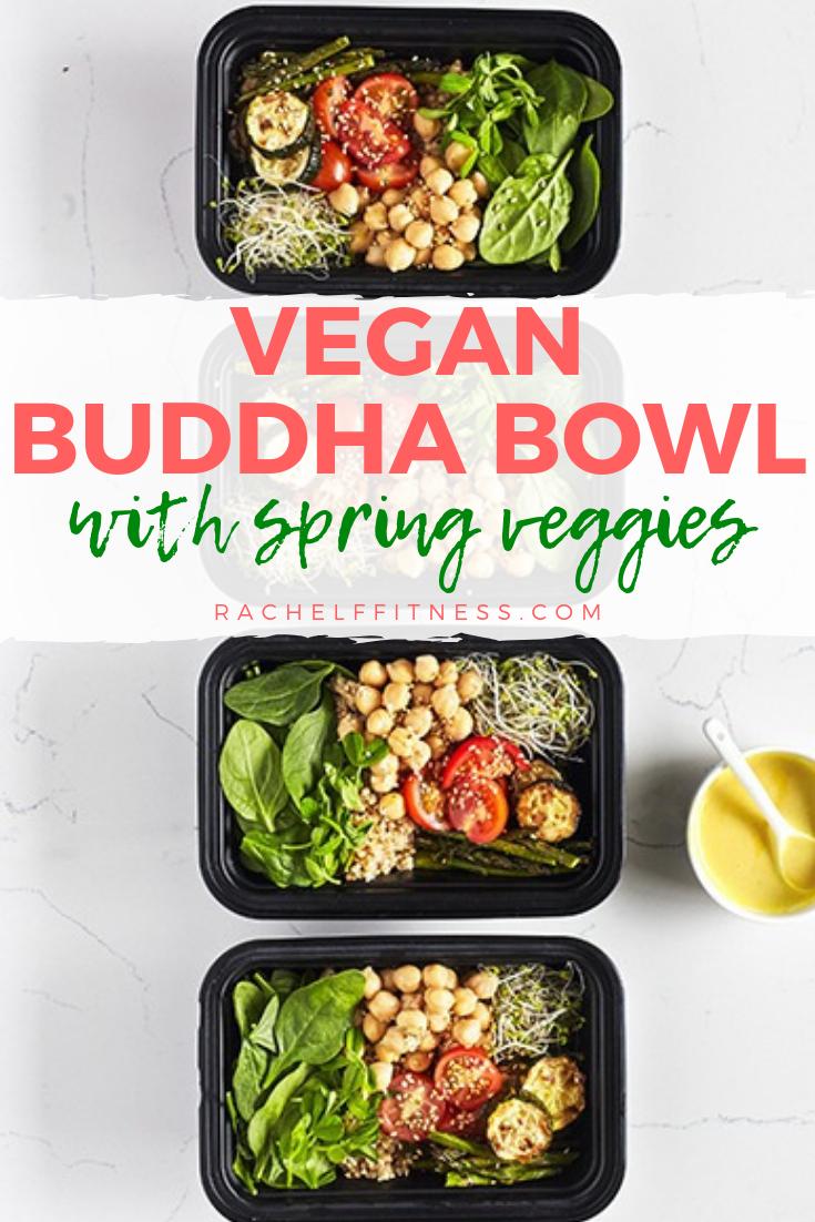 Vegan Buddha Bowl With Spring Vegetables