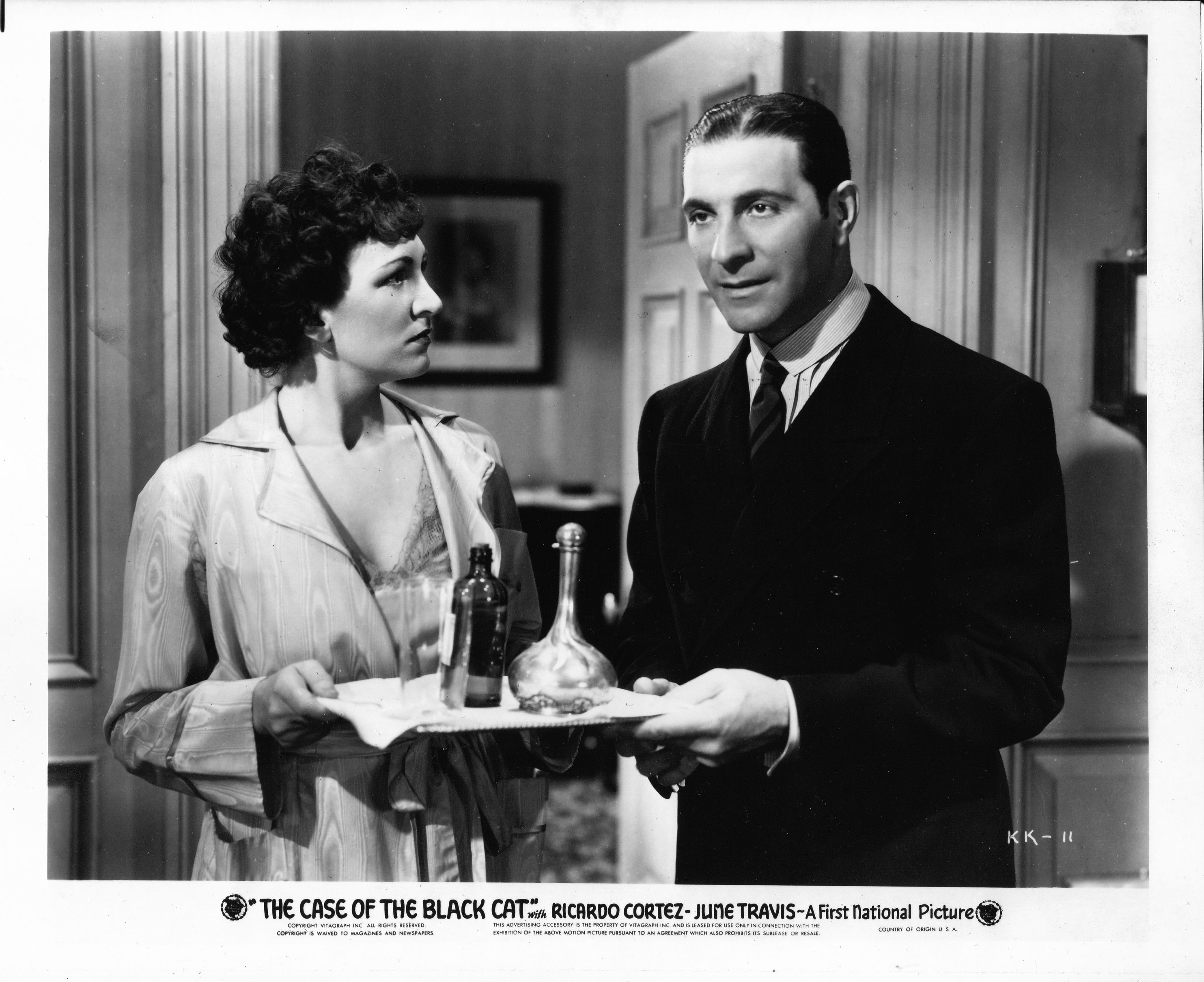 Nedda Harrigan As Louise Devoe Ricardo Cortez As Perry Mason In The Case Of The Black Cat 1936 From The Jim Davidson C Perry Mason Classic Tv Jim Davidson