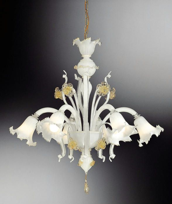 White venetian crystal chandelier chandeliers pinterest white venetian crystal chandelier aloadofball Images