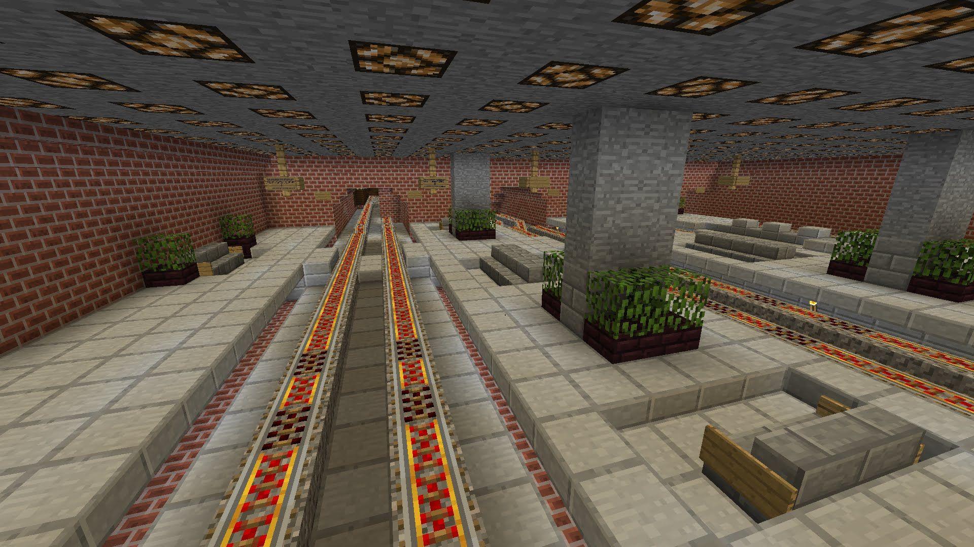 Image Result For Minecraft Train Station Schematic