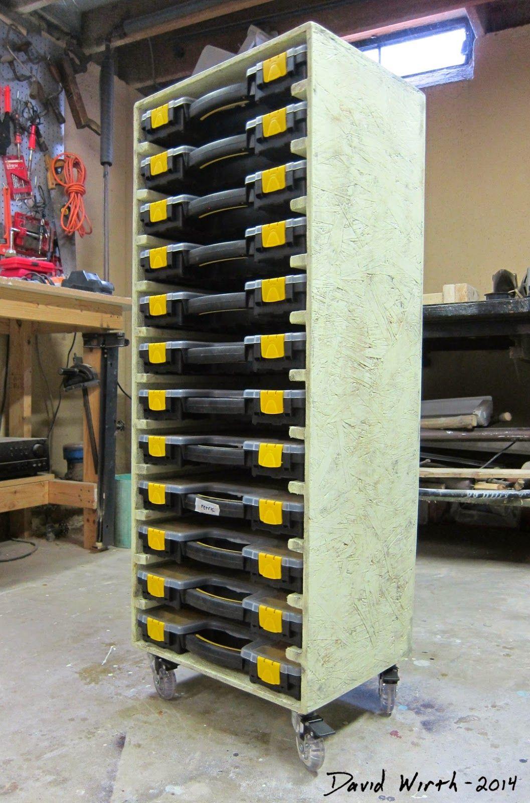 Organize Parts Storage Stacking Cases Diy Garage Storage Diy Garage Paint Storage