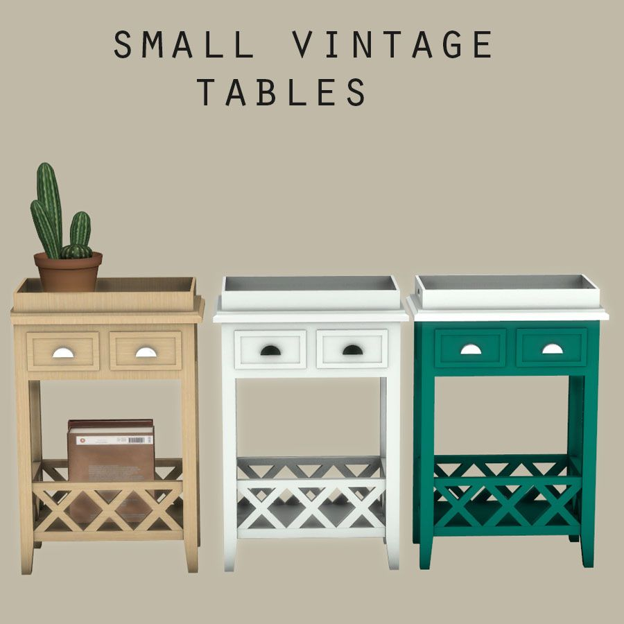 tablesLes contenu small vintage 4 simsSimsSims 0mnvNO8w