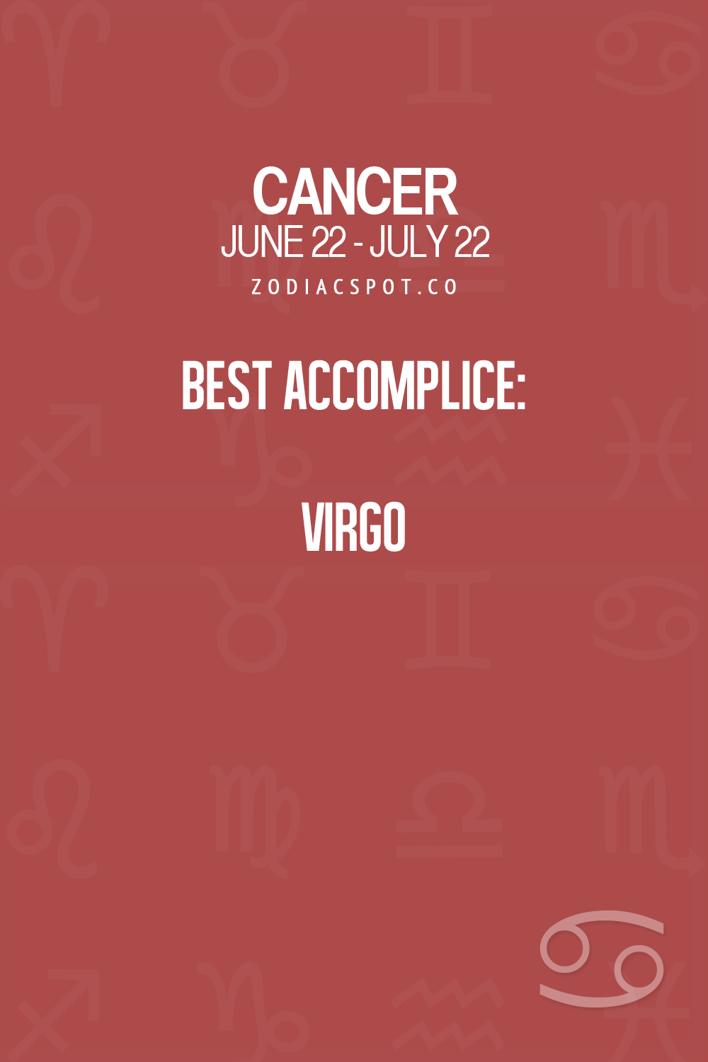 Cancer sign compatibility with virgo