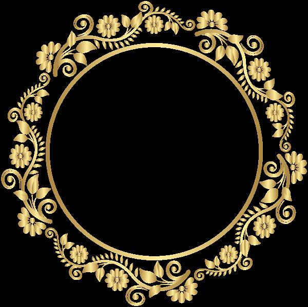 Round Gold Border Frame Deco PNG Clip Art | Clip art ...
