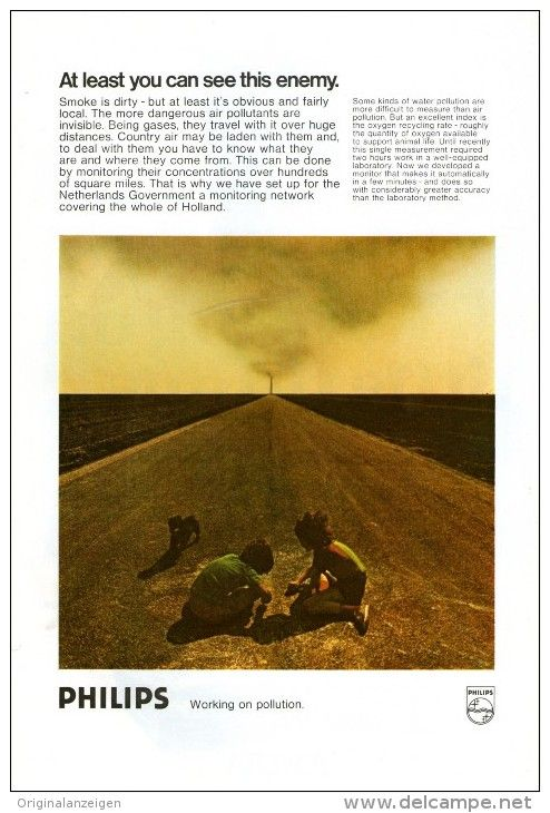 Original - Anzeige / Advertise 1974 : (ENGLISH)  1/1 PAGE - PHILIPS  - 170 x 250 mm