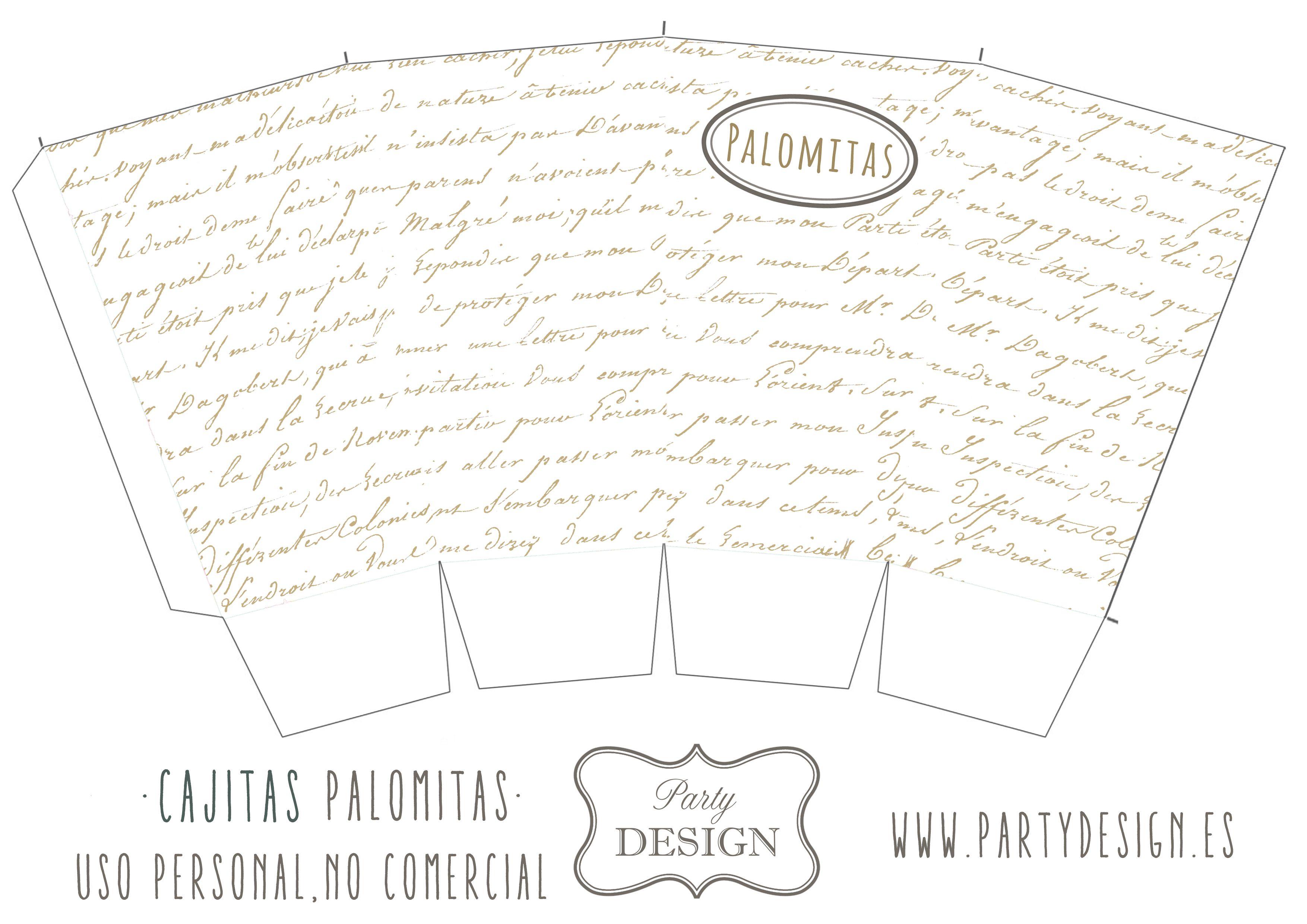 Moldes De Palomas Para Imprimir: Cajitas Para Palomitas Personalizadas