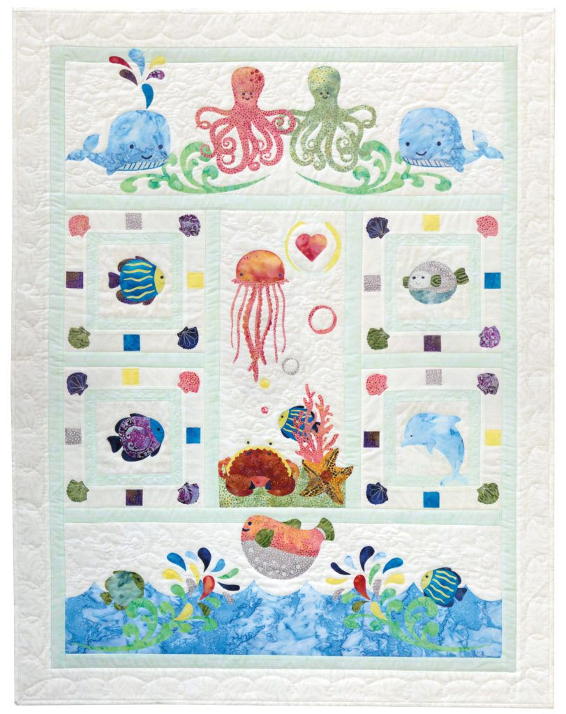 Wee Sea Quilt Pattern Series - an adorable baby quilt featureing ...