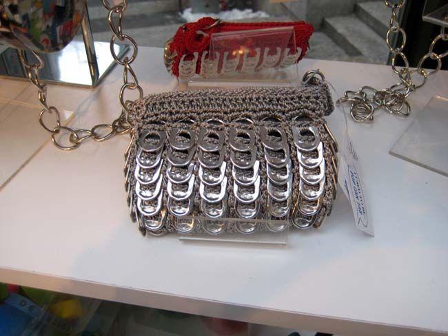 mini bolsillo con anillas