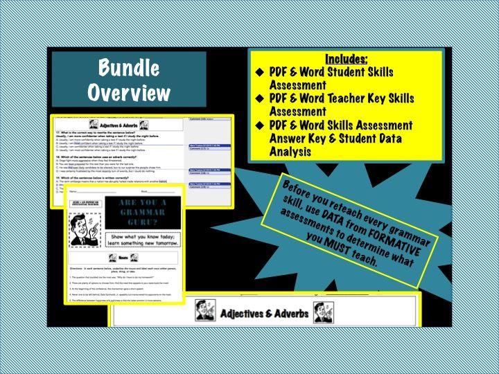 Grammar Skills Formative Assessment For Middle Grades Ela Tnready