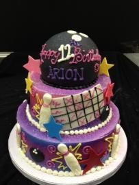 Girl's Bowling cake   Celebrity Cake Studio
