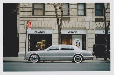 fancy car, fancy shop