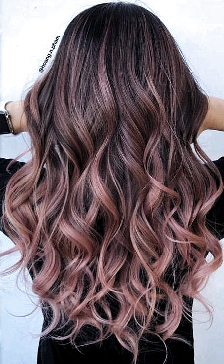 22 Best Ideas Hair Color Ideas For Brunettes For Summer Ombre Rose Gold Hair Color Ideas For Brunettes Balayage Spring Hair Color Balayage Brunette