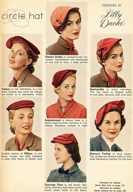 65c70e6b 1953 | Antique and Vintage clothing 1950's | Hats, 1950s hats ...