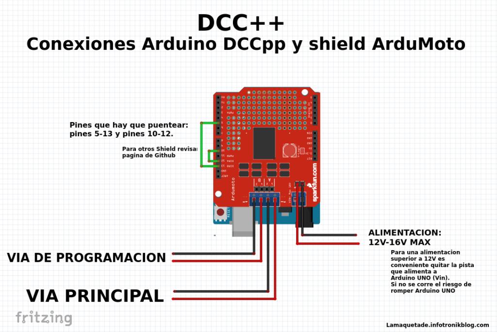 Central Digital Dcc Dccpp La Maqueta De Infotronikblog Modelos De Trenes Arduino Ferromodelismo