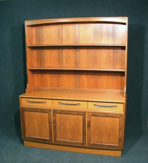 A Wonderful Vintage Retro G Plan Teak Dresser Sideboard Top Section With Two Fixed Shelves Base Section Has Three Top Drawers Sideboard Top Shelves Bookcase