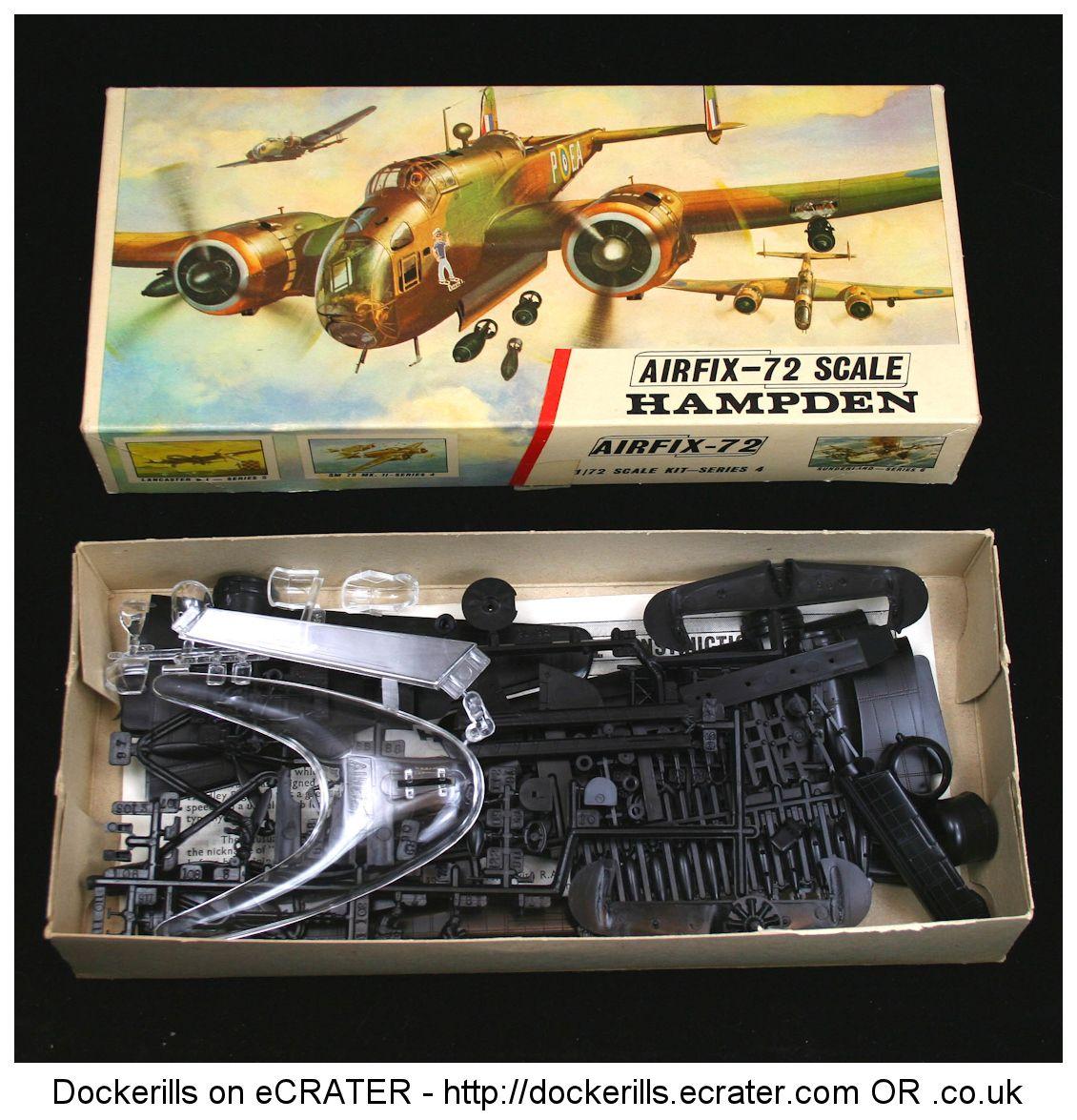 Airfix Hampden Vintage Type 3 Box Kit. 1/72 Scale. Produced c. 1963-1973. #Airfix