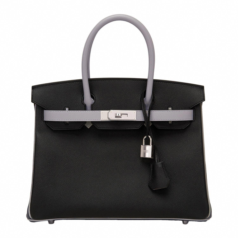 fd4dcccfd74e  Hermes  Birkin  Bag HSS Black And Gris Mouette Epsom Palladium Hardware   Hermeshandbags