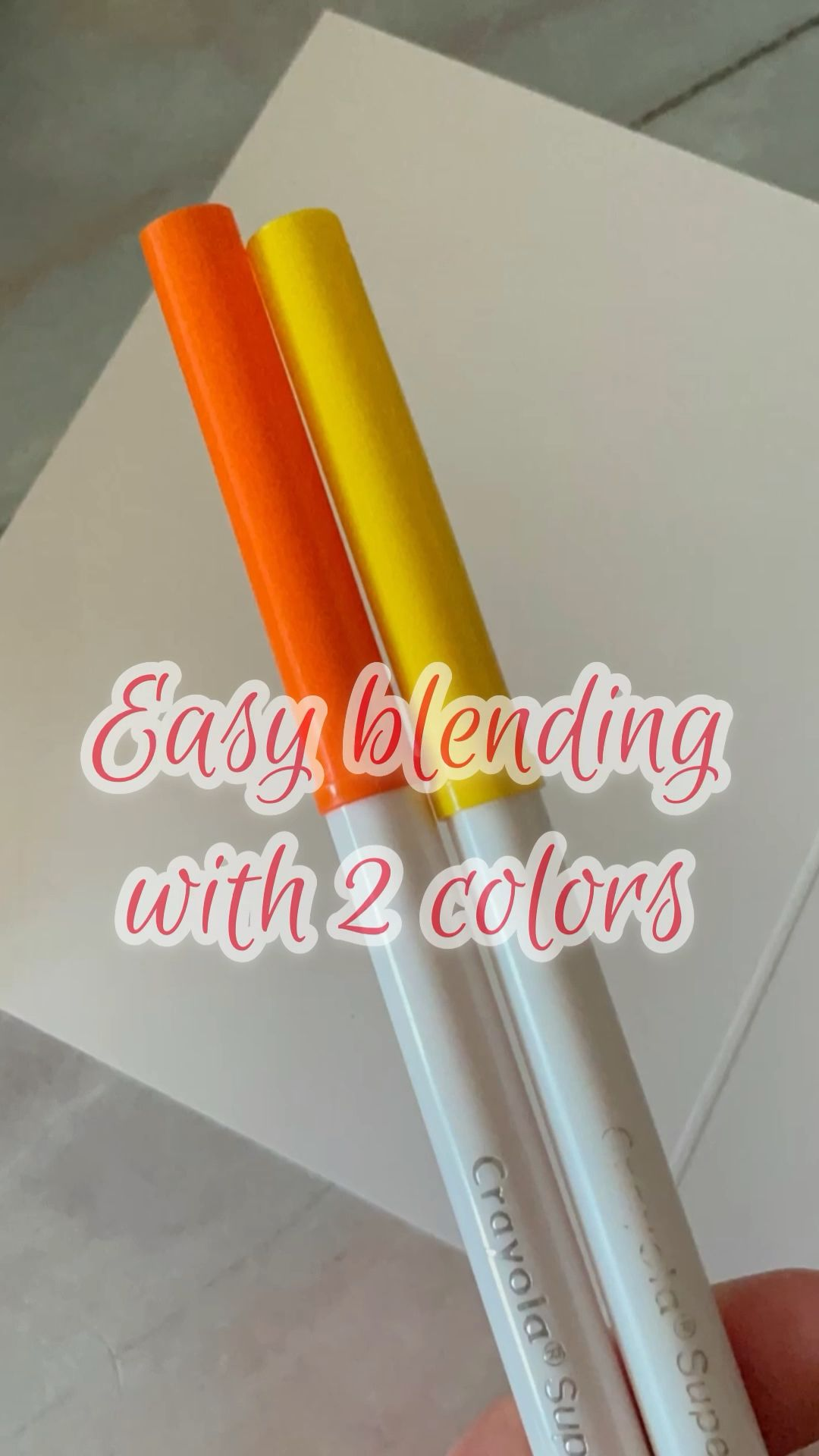Two colors blending