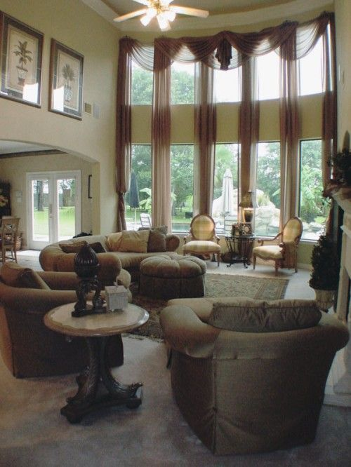 Another Possibility For Two Story Windows Window Treatments