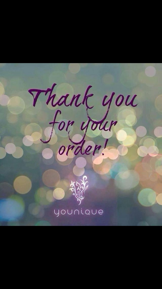 Thank You For Your Order Younique By The Younique Corner Https