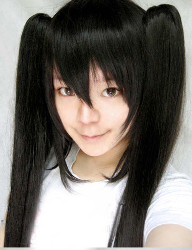 Vocaloid Black Long Straight Hair #wigs #hair #black #cheap