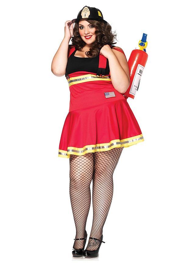 b9538ca907866f Sexy Feuerwehr Pin-up Kostüm Fire Fighter Hottie Costume #kleid #dress #rot