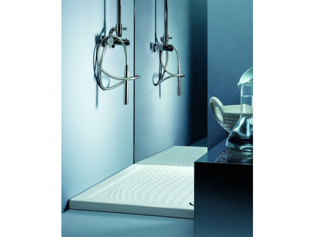 Piatto doccia energy 80x100xh3 5 bianco venduto da for Doccia iperceramica