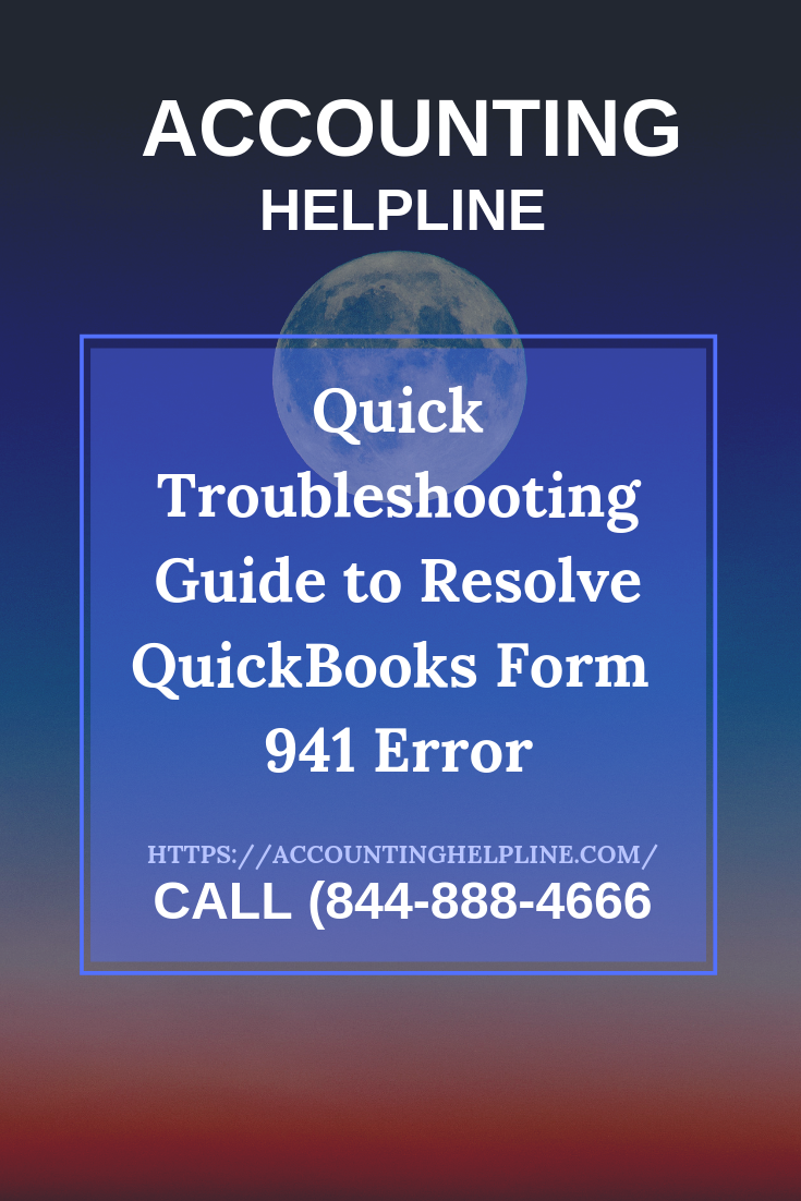 Quick Troubleshooting Guide to Resolve QuickBooks Form 941