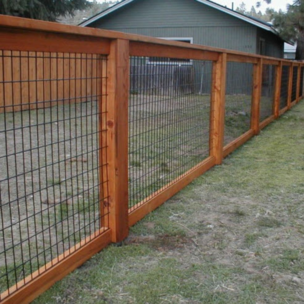Hog wire fence design construction resources hog wire for Wooden garden fences designs