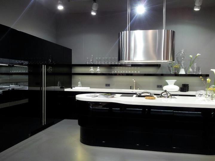 Afzuigkap in moderne art déco keuken wave custom made! modern