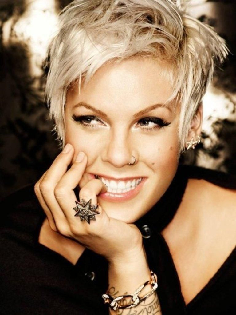 Pink. This woman is awesome. Period.  Short hair styles, Hair