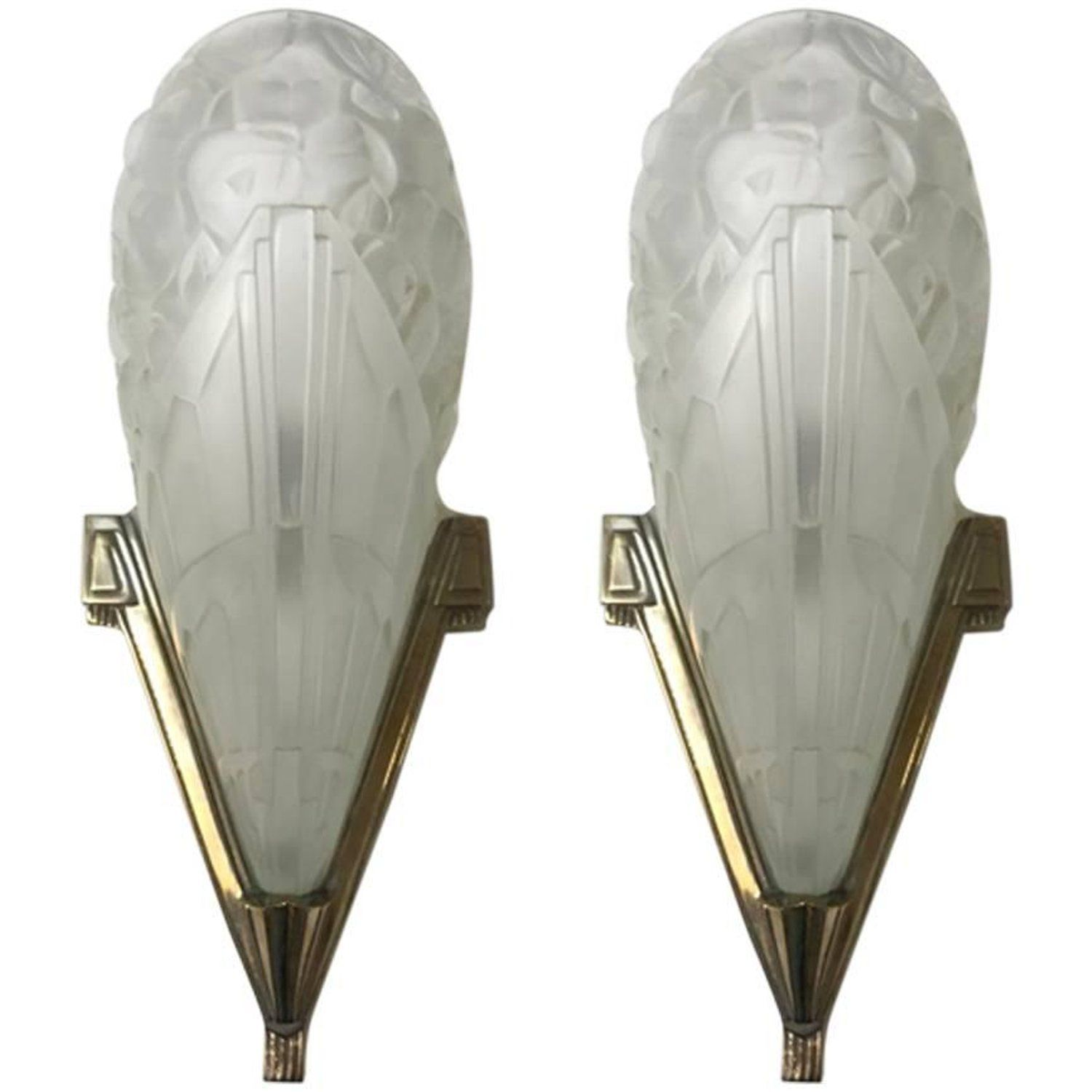 Pair of French Art Deco Wall Sconces by J Robert | Deco wall, French ...