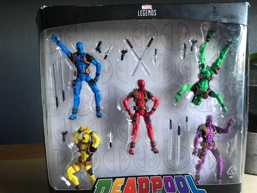 """3.75/"""" figures New Hasbro Marvel Legends Deadpool/'s Rainbow Squad 5 pack"""