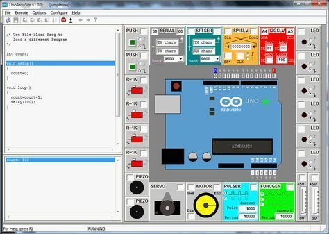 A free Windows simulation of an Arduino Uno | Tinkering in
