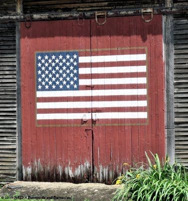 Super cool American flag painted on a rustic barn door & Old Painted Barn Door...flag. | FLAGS | Pinterest | Americana paint ...