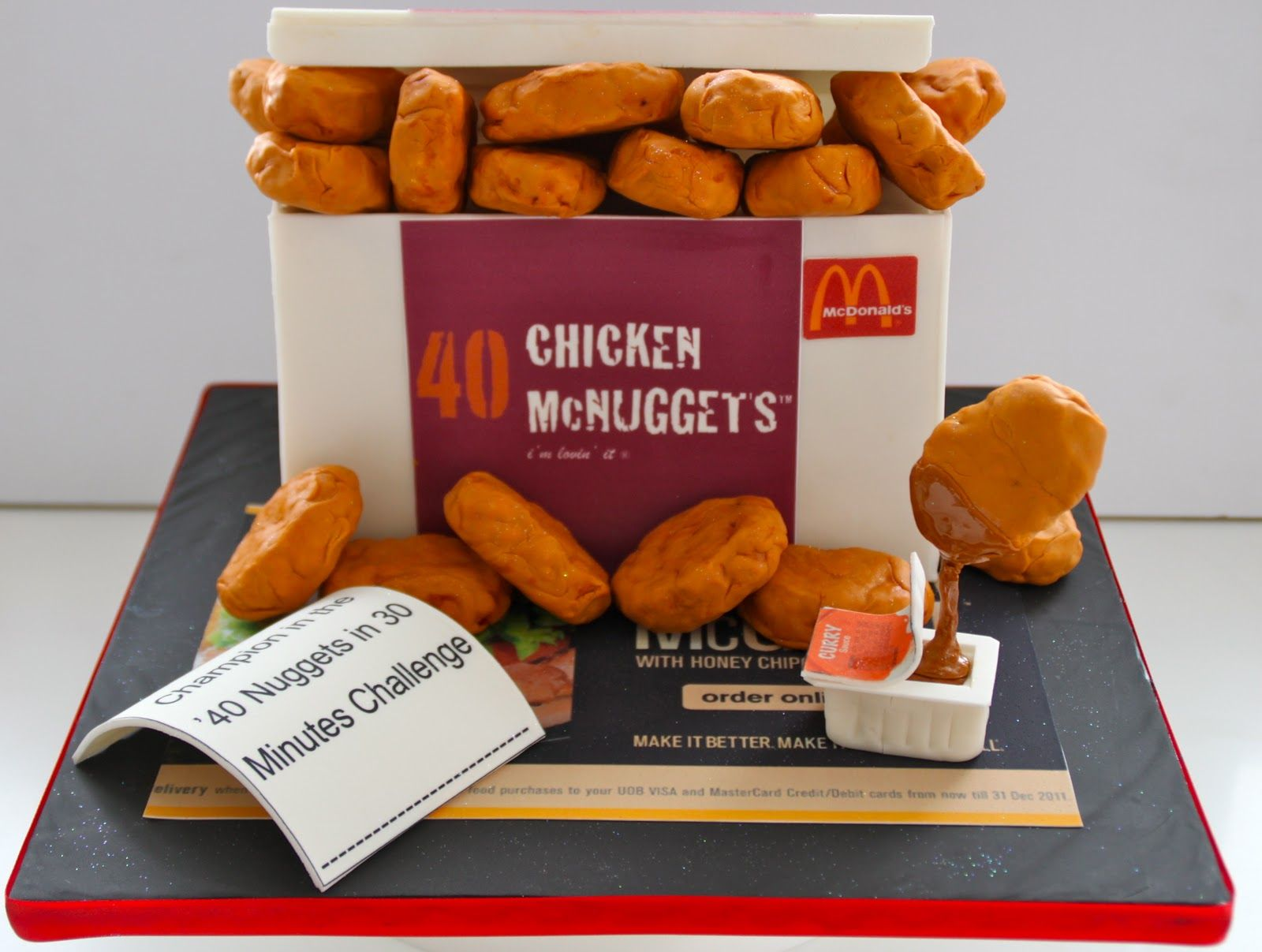 McDonald's Chicken McNuggets Cake :: I realize this is a cake.but I've been  craving nuggets lately. 27 Fast Food Themed Cakes That Are Like Works Of Art