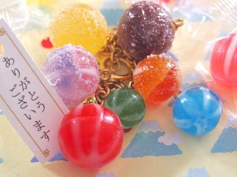 レジン 和風手まりあめ&みぞれあめのアクセサリー  How to make Japanese Candy