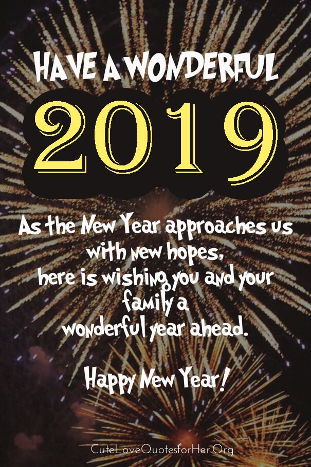 Happy New Year 2019 Love Quote Image Happy new year