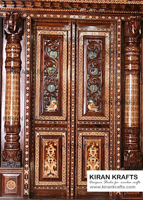 9 Traditional Pooja Room Door Designs In 2020: Pooja Room Door By Kiran Enterprises Asian