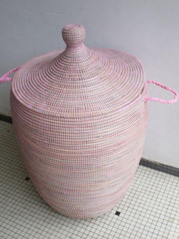 Pale Pink Hamper L Laundry Basket Bedroom Decor S Room