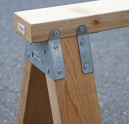 シンプソン金具のソーホース用のブラケットを使用する ソーホース