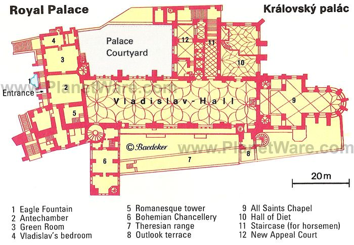 Prague Royal Palace Kralovsky Palac Floor Plan Map