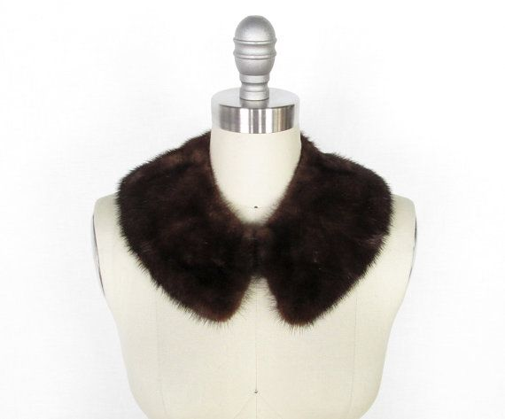 Vintage 1950s Mink Collar  Chocolate Brown by myVintageValentine, @ Etsy $30.00